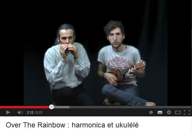 "Duo harmonica ukulélé sur ""Somewhere Over The Rainbow"""