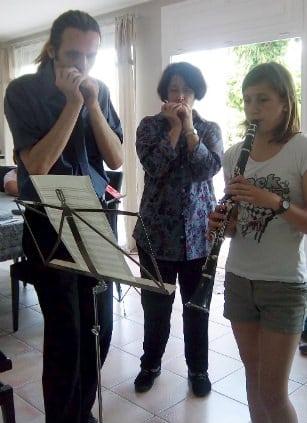 Deux harmonicas en Bb et une clarinette !