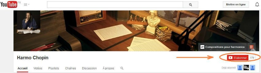 Abonnez-vous gratuitement à ma chaîne YouTube pour être tenu au courant automatiquement des prochaines publications !