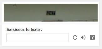 Un autre CAPTCHA, plus difficile à lire...