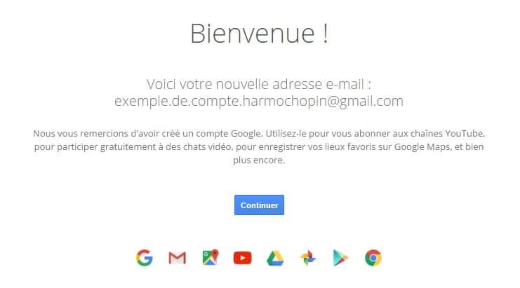 Google vous souhaite la bienvenue !