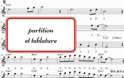 Partition et Tablature
