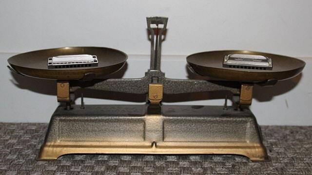 Tous les harmonicas diatoniques pèsent presque autant les uns que les autres