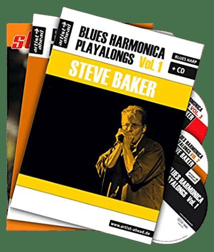 Les 3 recueils de l'harmoniciste Steve Baker