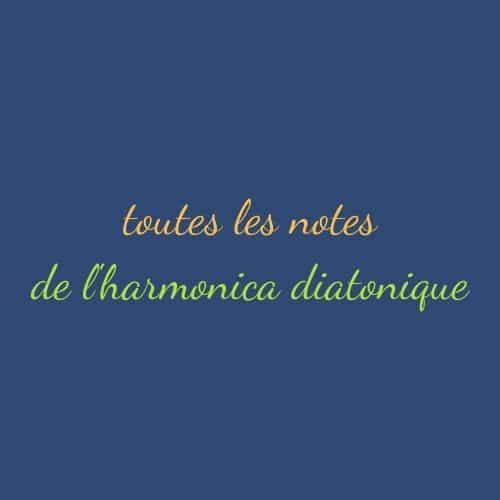 toutes les notes de l'harmonica diatonique et leur emplacement sur l'instrument