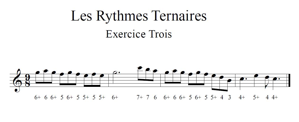 Les Rythmes Ternaires Exercice Trois